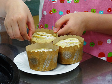 恵泉産全粒粉で蒸しケーキをつくろう